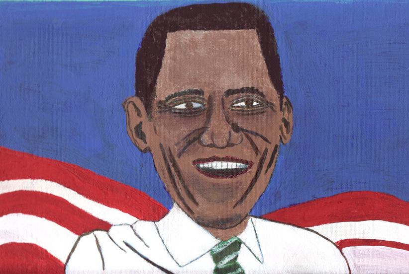 THe embodyment of 2009, Barack Obama - From www.badpaintingsofbarackobama.com